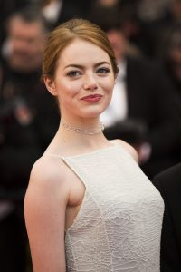 Actress Emma Stone poses for photographers on the red carpet at the screening of the film Irrational Man at the 68th international film festival, Cannes, southern France, Friday, May 15, 2015. (Photo by Arthur Mola/Invision/AP)